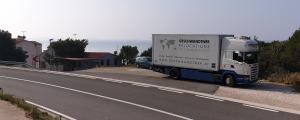 LKW der Geschwandtner GmbH bei einem Umzug von Wien nach Kroatien