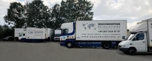 Fuhrpark der Geschwandtner GmbH Umzugsunternehmen in Wien