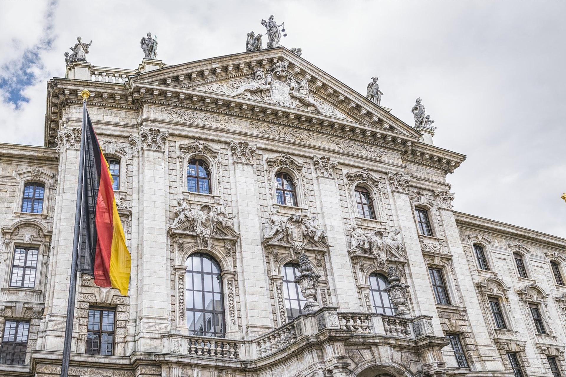 münchen umzug parlament deutschland flagge